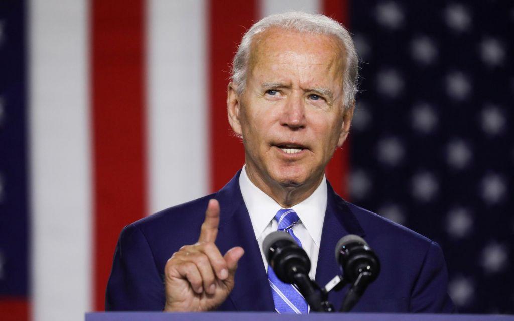 Predsedniški kandidat Joe Biden se predstavlja