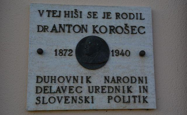 V občini Sv. Jurij ob Ščavnici urejajo spominsko sovo dr. Antona Korošca, ki je umrl leta 1940. FOTO: Bakal Oste
