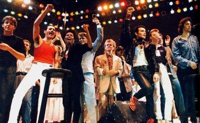 Live Aid so na Wembleyju končali s pesmijo Do They Know It's Christmas? FOTO: arhiv organizatorja