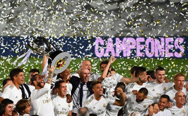 Real Madrid je osvojil 34. naslov španskega prvaka. FOTO: Gabriel Bouys/AFP