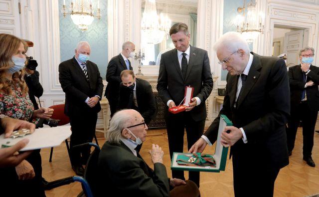 Boris Pahor: »Čakal sem sto let. Videl sem ga goreti. Zdaj smo ga dobili nazaj. Naloga opravljena.« FOTO: Daniel Novaković/STA