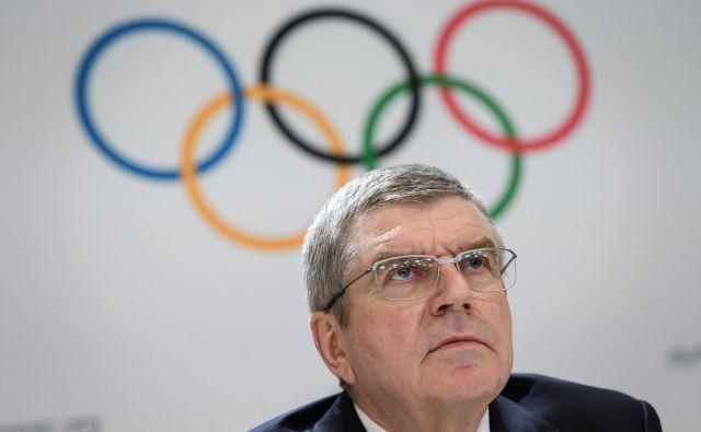 Thomas Bach je že sedem let predsednik Moka. FOTO: Fabrice Coffrini/AFP