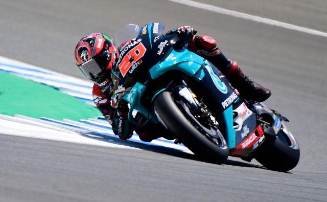 Fabio Quartararo je pred prvo dirko sezone v razredu motogp uveljavil vse svoje odlike. FOTO: Javier Soriano/AFP