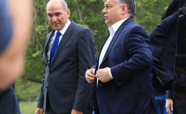Janez Janša in Viktor Orbán. FOTO: Tadej Regent/Delo