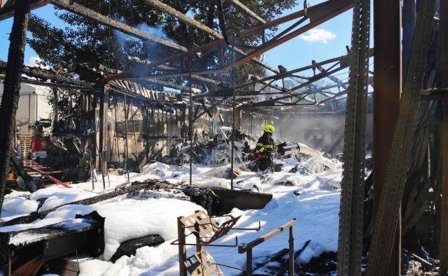 Požar je terjal veliko materialno škodo. FOTO: PGD Radovljica