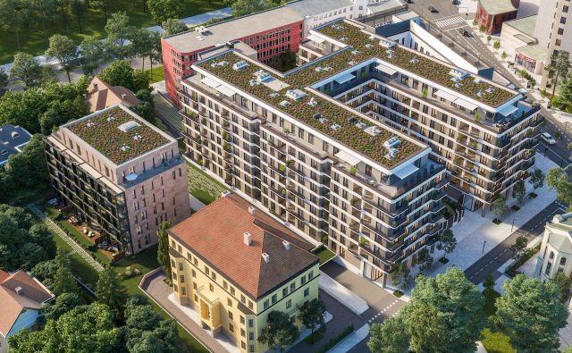 Na zemljišču, kjer je še pred devetimi leti stal propadajoči Kolizej, bodo čez tri leta zgradili 125 luksuznih stanovanj, od tega bo kar sedem penthousov. Računalniški prikazi Stoja Trade