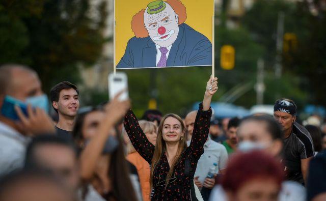 V Bolgariji potekajo protesti že dva tedna. FOTO: Nikolay Doychinov/AFP
