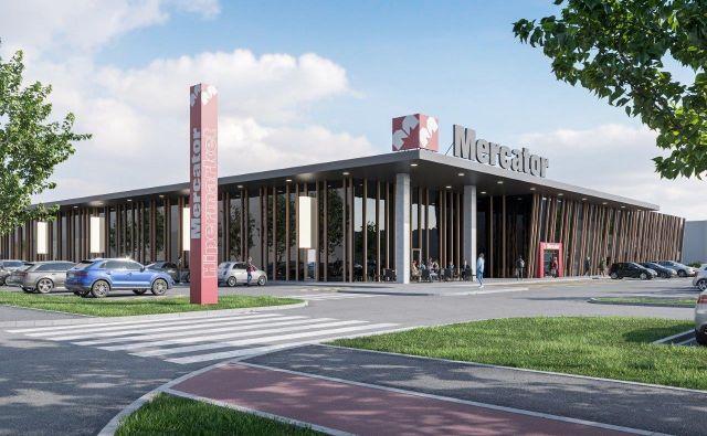 Takšna je idejna zasnova novega Mercatorjevega trgovskega centra v središču Murske Sobote. FOTO: Arhiv Mercator