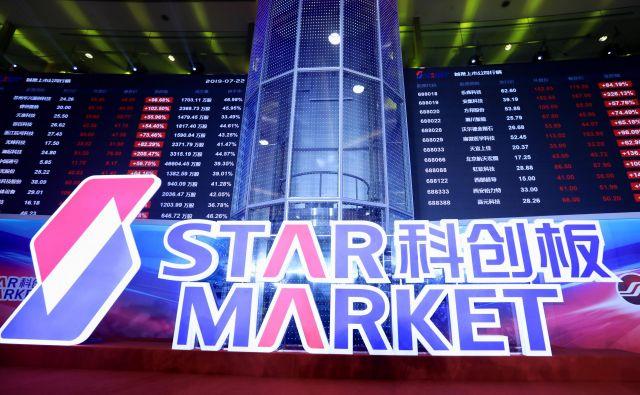 Star Market je zanimiv predvsem za prve izdaje delnic kitajskih tehnoloških podjetij. FOTO: China Stringer Network/Reuters