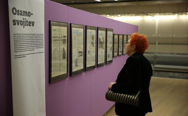 Razstava starih časopisov iz zbirke Alija Žerdina. FOTO: Jože Suhadolnik