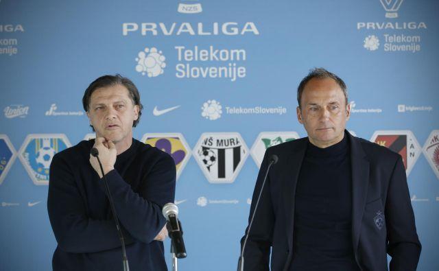 Safet Hadžić in Darko Milanić sta začela klubsko sezono 2019/20 na klopeh Olimpije in Maribora, nasledila sta ju neuveljavljena hrvaška trenerja Sergej Jakirović in Dino Skender. FOTO: Jure Eržen