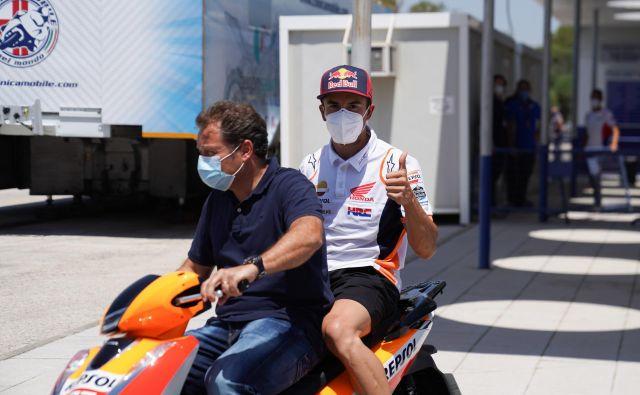 Marc Marquez je s hitro vrnitvijo na steze presenetil tudi tekmece. FOTO: Repsol Honda