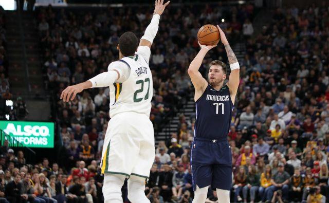 Luka Dončić bo stopnjeval formo do 18. avgusta, ko se bo začela končnica lige NBA. FOTO: Kevin Jairaj/USA Today Sports
