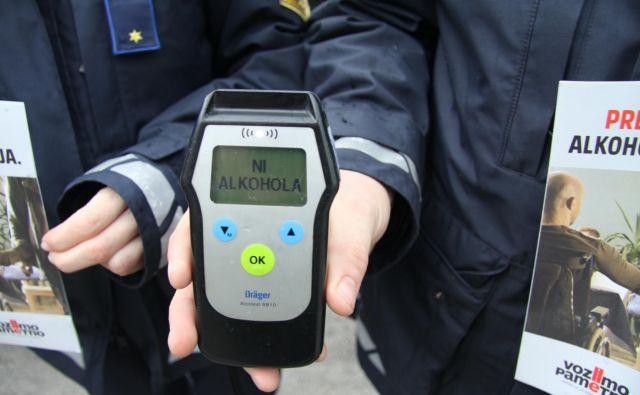 Namesto takšnega izpisa je alkotest pri voznici pokazal 1,82 miligrama alkohola v litru izdihanega zraka oziroma 3,8 promila alkohola v krvi. FOTO: PU Novo mesto