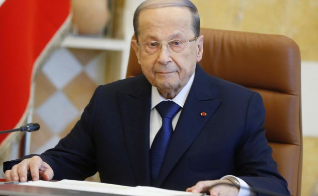 Lebanon's President Michel Aoun attends the cabinet meeting at the presidential palace in Baabda, Lebanon January 22, 2020. REUTERS/Mohamed Azakir Foto Mohamed Azakir Reuters