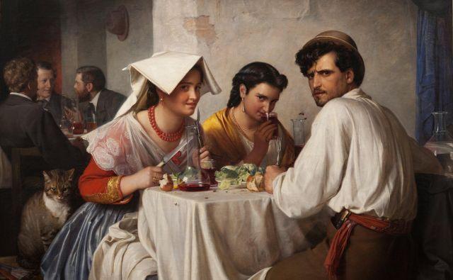 V rimski gostilni, slika danskega slikarja Carla Blocha iz leta 1866, ki jo hrani københavnska Narodna galerija. Foto Wikimedia