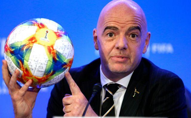 Gianni Infantino zagotavlja, da bo FIFA vestno sodelovala z oblastmi. FOTO: Rhona Wise/AFP