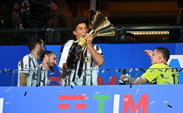 Juventusov napadalec Cristiano Ronaldo je napovedal boj za tretji zaporedni naslov italijanskega prvaka. FOTO: Isabella Bonotto/AFP