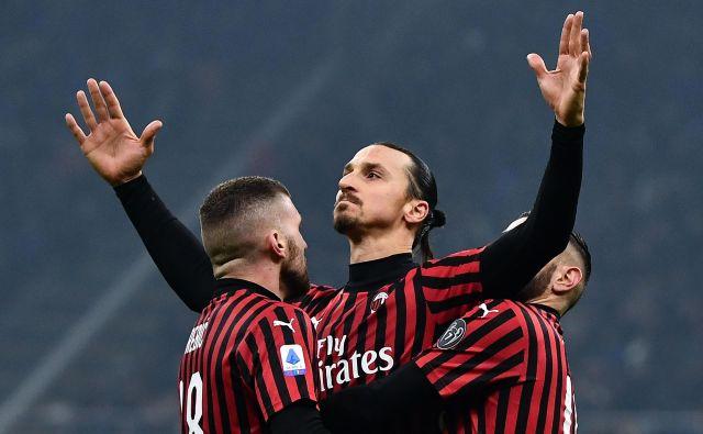 Zlatanu Ibrahimoviću je dosežek uspel v zadnji tekmi sezone, ki jo je Milan končal na šestem mestu. FOTO: Marco Bertorello/AFP