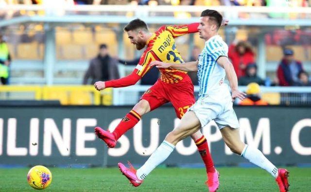 Žan Majer je z Leccejem do zadnjega poskušal obstati med prvoligaši. FOTO: Lecce