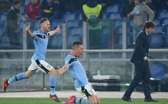 Sergej Milinković Savić je med glavnimi aduti rimskega kluba, ki ima v svojih vrstah tudi prvega strelca lige Cira Immobileja. FOTO: Filippo Monteforte/AFP