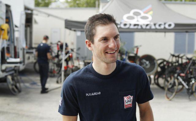 Jan Polanc je na dirki Grande Trittico Lombardo v cilj prikolesaril z najboljšimi. FOTO: Leon Vidic/Delo