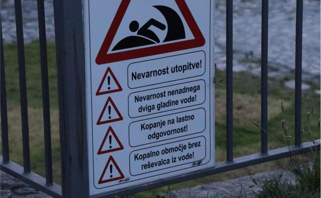 Plavanje v soči je nevarno. FOTO: Pu Nova Gorica