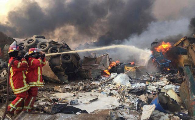 Eksplozijo je bilo mogoče čutiti celo dvajset kilometrov iz mesta.Foto: Mohamed Azakir/ Reuters
