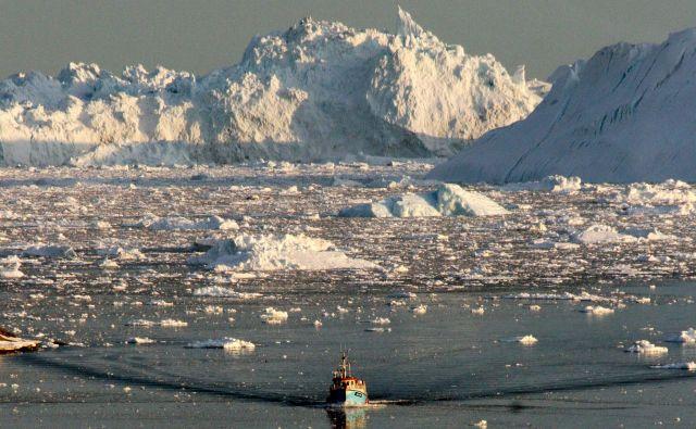 Nekatere meteorološke študije so napovedale, da bo do leta 2050 z Arktike izginil led.FOTO: Steen Ulrik Johannessen/AFP