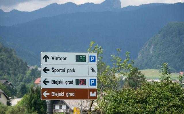 Usmerjevalne table.<br /> Foto: Podjetje Palisada Sistemi, strateški partner A1 Slovenija na področju pametnih mest.