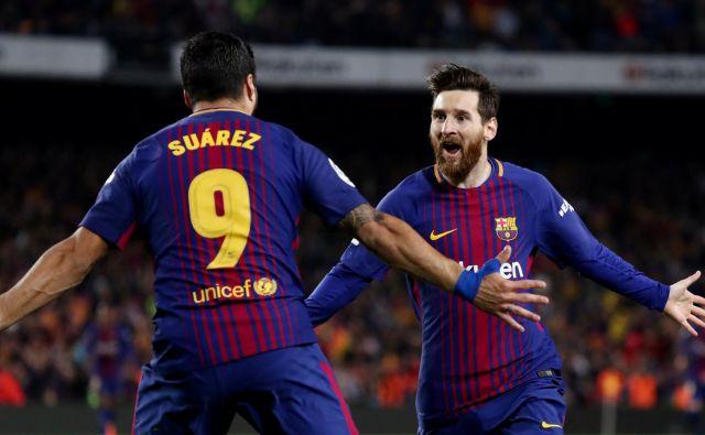 Barcelona bo želela rešiti sezono v ligi prvakov.FOTO: Sergio Perez/Reuters