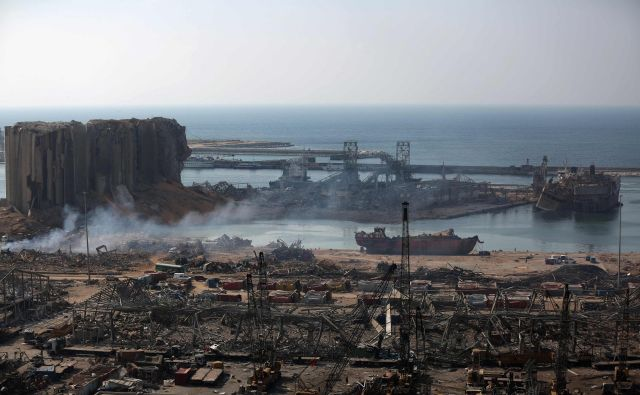 Uničenje v Bejrutu. FOTO: Patrick Baz/AFP