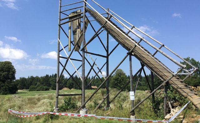 Šest mladoletnikov je padlo sedem metrov globoko. FOTO: Marjan Levstek/Delo