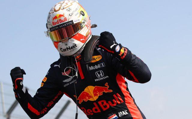 Max Verstappen ni skrival navdušenja. FOTO: Bryn Lennon/AFP