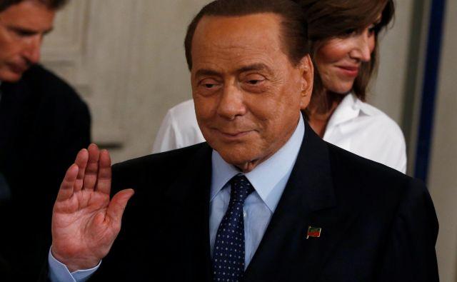 Tudi če <strong>Silvio Berlusconi </strong>nima več realne možnosti, da se povzpne na oblast, lahko še vedno vpliva na razvoj dogodkov. Foto Ciro De Luca/Reuters