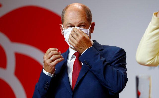Minister za finance Olaf Scholz bo SPD na volitvah prihodnje leto skušal pridelati kanclerski položaj.<br /> Foto Fabrizio Bensch/Reuters