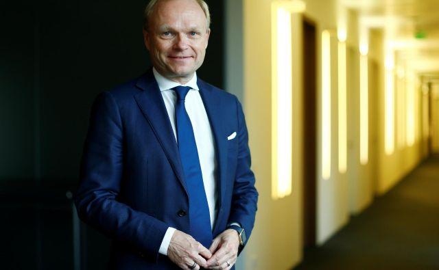 Pekka Lundmark Nokio prevzema v času, ko se podjetje bojuje za položaj v zelo politični tekmi na področju 5G. Foto Thilo Schmuelgen/Reuters
