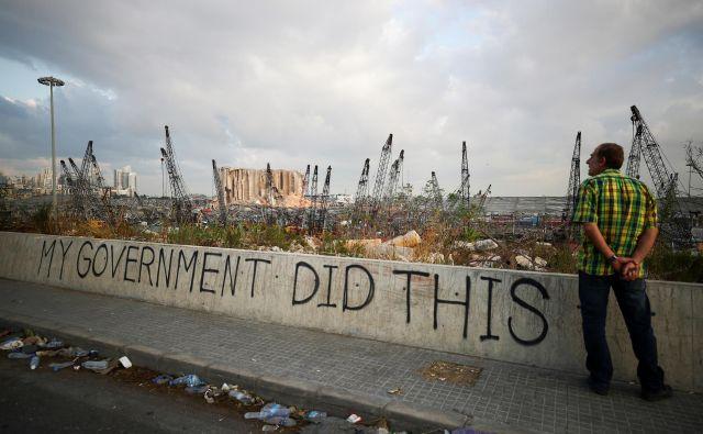 Uničenje v Bejrutu. FOTO: Hannah McKay / Reuters