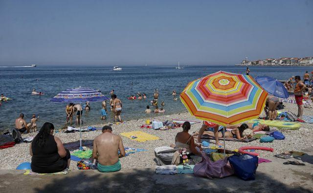 Obala pri vavčerjih prednjači. FOTO: Blaž Samec/Delo