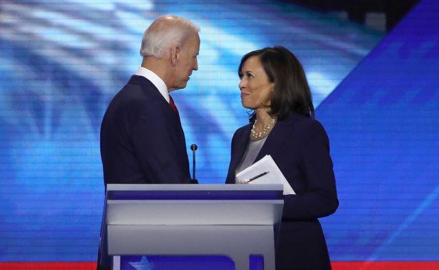 Demokratski predsedniški kandidat Joe Biden in njegova podpredsednica Kamala Harris septembra 2019 v Teksasu. FOTO: Win Mcnamee/AFP