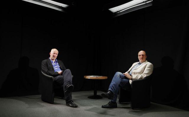 Ali Žerdin in Janez Markeš komentirata delovanje vlade Janeza Janše. FOTO: Leon Vidic/Delo