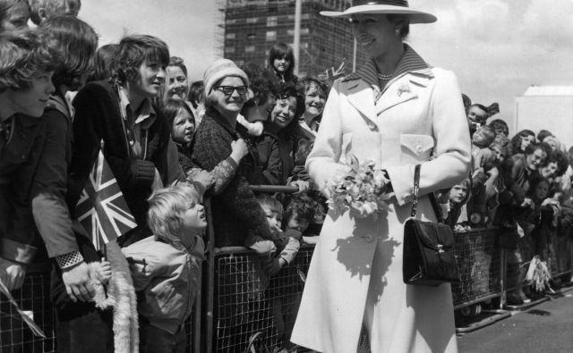 Princesa Ana na obisku v Washingtonu v ZDA leta 1974. Foto Wikipedija