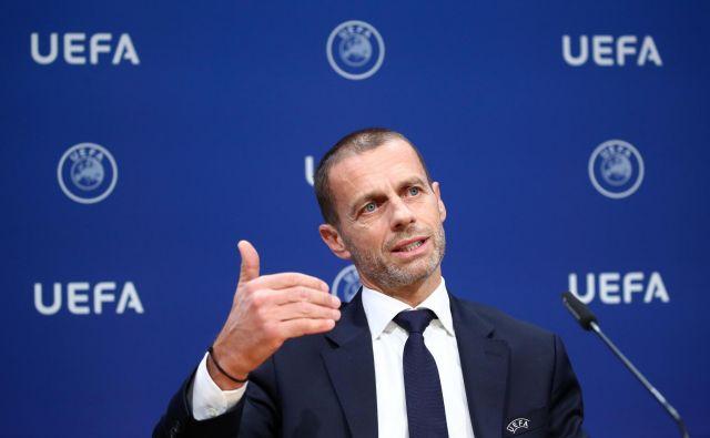 Aleksander Čeferin je vseskozi verjel v uspešnost zaključnega turnirja lige prvakov in evropske lige. FOTO: Denis Balibouse/Reuters