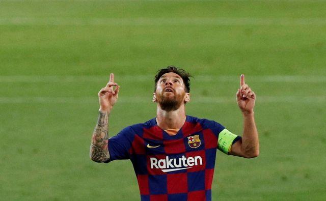 Tudi med krizo Barcelone je bil glavni adut Lionel Messi. FOTO: Albert Gea/Reuters