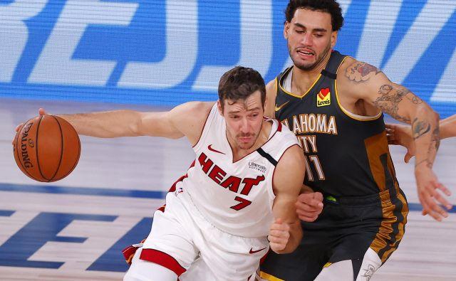 Goran Dragić je bil vnovič med najbolj vidnimi pri moštvu Miamija. FOTO: Kevin C. Cox/AFP