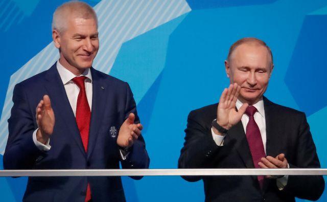 Tako minister za šport Oleg Maticin kot tudi prvi mož države Vladimir Putin sta se zavzela za vrnitev ugleda ruskih športnikov po dopinških zapletih. FOTO: Maksim Šemetov/Reuters