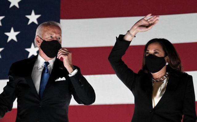 Joe Biden s Kamalo Harris. FOTO: Olivier Douliery/Afp