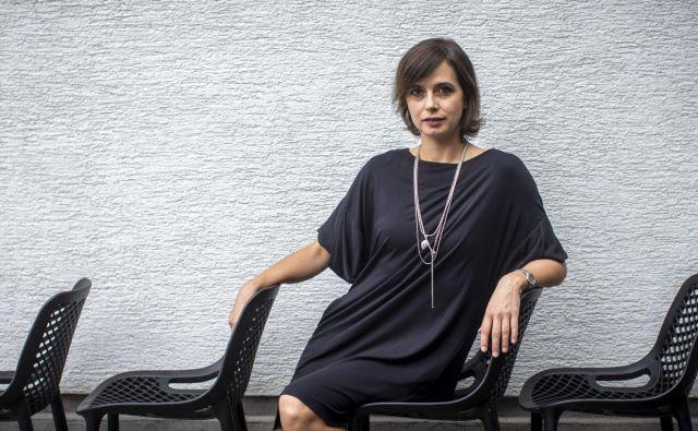 Ana Pandur Predin najraje sodeluje z ljudmi, ki jih občuduje, tokrat z Damirjem Avdićem. FOTO: Voranc Vogel/Delo