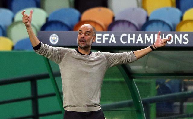 Pep Guardiola je že tretjič zapored izgubil proti slabše rangiranemu moštvu. FOTO: Miguel A. Lopes/AFP