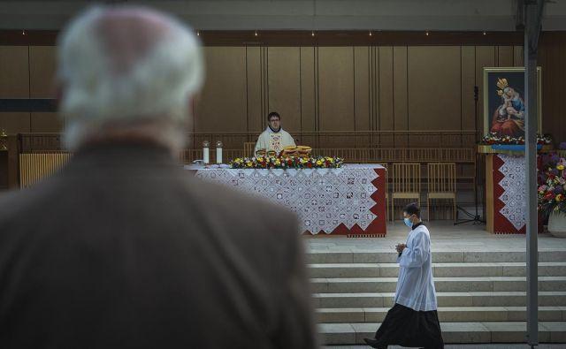 Obreda na Brezjah se je udeležilo približno 3000 vernikov. FOTO: Jože Suhadolnik/Delo